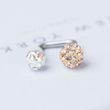 2set 2cubic ball Piercing ( pitch white )