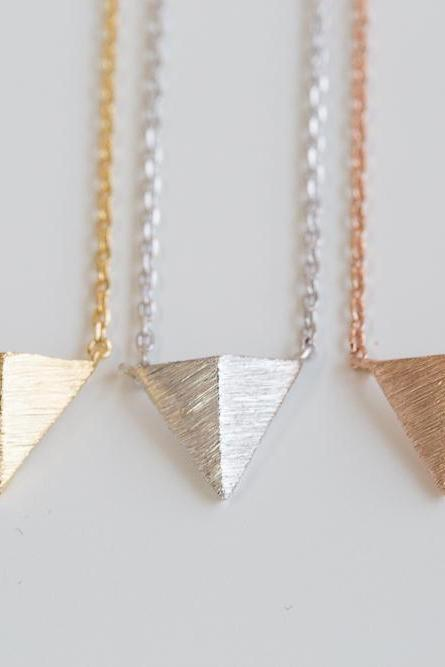 Pyramid triangle necklace