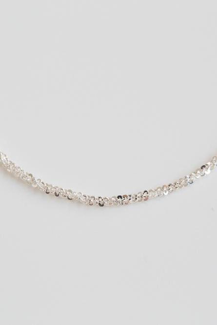 925 1mm thick shiny line necklace