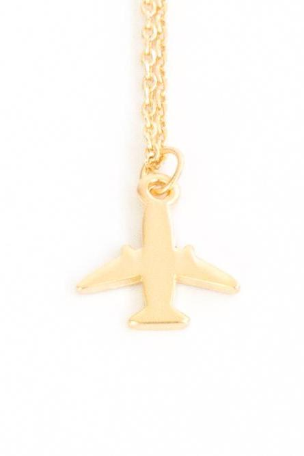 Mini Airplane Necklace